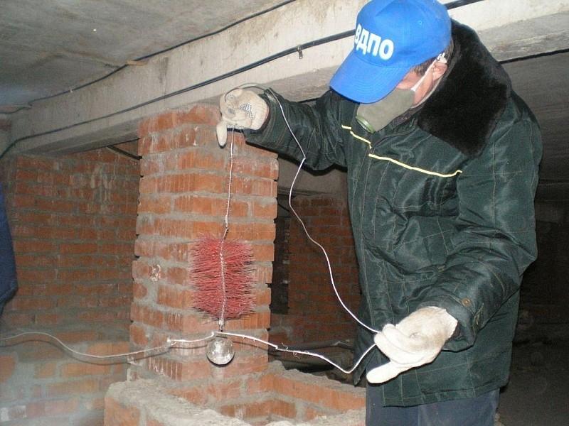 Чистка и проверка дымохода производится по графику
