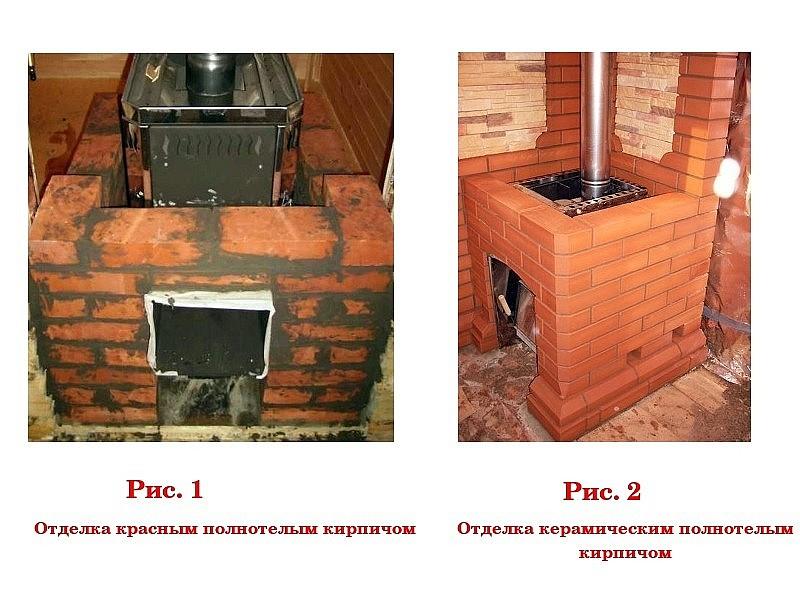 каким раствором обкладывать железную печь в бане