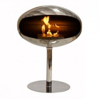 Биокамин Cocoon Fires Terra Pedestal Standing Stainless Stell